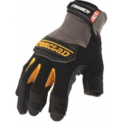 Ironclad - FUG2-04-L - Construction Mechanics Gloves, Synthetic Leather Palm Material, Black, L, PR 1