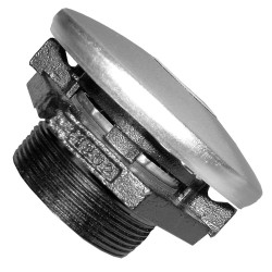 "Fill-Rite - FRTCB - 4"" Aluminum and Steel Vent Cap with Base, 50 psi, 2"" NPT Inlet"
