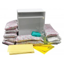 Safety Solutions - 200800 - Spill Kit/Station, Wall Mounted Cabinet, Chemical, Hazmat, 8 gal.