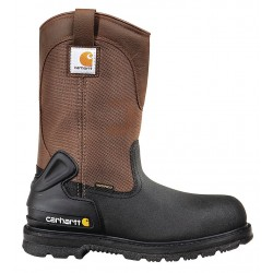 Carhartt - CMP1259 10 M - 10H Men's Wellington Boots, Steel Toe Type, Leather, Urethane Coated Leather Upper Material, Black/