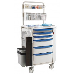 Metro (InterMetro) / Emerson - FLANES1 - 22-3/8D x 32-1/4W x 45-1/4H Polymer Anesthesia Cart