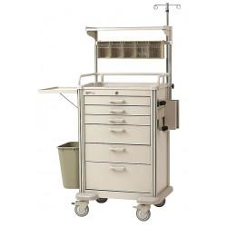 Metro (InterMetro) / Emerson - MBP3210ANES2 - 22-3/8D x 34-1/4W x 44H Aluminum Anesthesia Cart