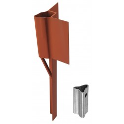 Tapco - 034-00088 - Traffic Post Soil Anchor, Steel, Red