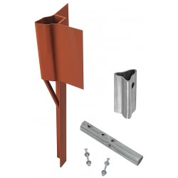 Tapco - 034-00093 - Red Traffic Post Breakaway Soil Anchor, Steel, 1 EA