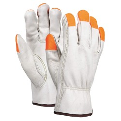 Memphis Glove - 3213XLCHVSP - Cowhide Leather Driver's Gloves with Slip-On Cuff, Cream, XL
