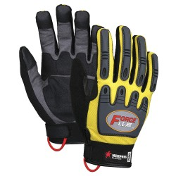 Memphis Glove - Y200XXL - Leather Palm Gloves, Clarino® Synthetic Leather Palm Material, Hi-Visibility Yellow/Black, 2XL, PR 1