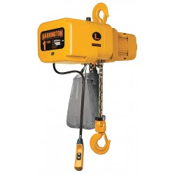 Harrington Hoists - NERP003H-20 - H4 Electric Chain Hoist, 500 lb. Load Capacity, 208/230/460V, 20 ft. Hoist Lift, 53 fpm