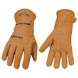 Youngstown Glove - 11-3285-60-L - Winter Waterproof Gloves, Kevlar Lining, Extended 4 Safety Cuff Cuff, Tan, L, PR 1
