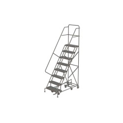 Tri Arc - KDAD108242 - 8-Step Rolling Ladder, Serrated Step Tread, 116 Overall Height, 450 lb. Load Capacity