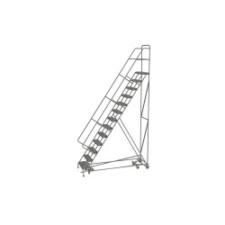 Tri Arc - KDAD113242 - 13-Step Rolling Ladder, Serrated Step Tread, 166 Overall Height, 450 lb. Load Capacity