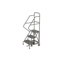 Tri Arc - KDEC103162 - 3-Step Rolling Ladder, Serrated Step Tread, 66 Overall Height, 450 lb. Load Capacity