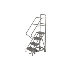 Tri Arc - KDEC104162 - 4-Step Rolling Ladder, Serrated Step Tread, 76 Overall Height, 450 lb. Load Capacity