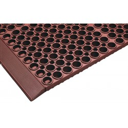 Apex Tool - T11S3919RD - Interlocking Drainage Mat, Nitrile, Red, 1 ft. 7 x 3 ft. 3, 1 EA