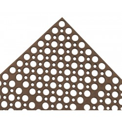 Apex Tool - T12S3958BR - Interlocking Drainage Mat, Rubber, Brown, 4 ft. 10 x 3 ft. 3, 1 EA