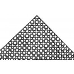 Apex Tool - T13S0032BL - Interlocking Drainage Mat, Rubber, Black, 2 ft. x 3 ft., 1 EA