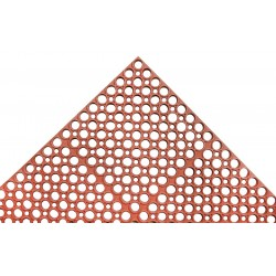 Apex Tool - T13S0035RD - Interlocking Drainage Mat, Rubber, Red, 5 ft. x 3 ft., 1 EA