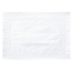 Hoffmaster - 601SE1014 - Hoffmaster Straight Edge White Placemats - Tableware, Utensil - 14 Length x 10 Width - Rectangle - Paper - White
