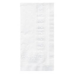 Hoffmaster - 310477 - Hoffmaster Scalloped Edge Paper Placemat - Tableware, Utensil - 9.63 Length x 13.50 Width - Rectangle - Paper - White