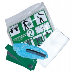 Greenwich Safety - POS2A-LA - Post Decon Kit, Large Adult, PK20