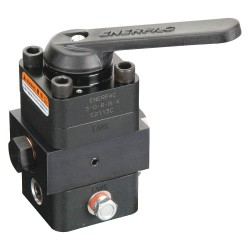 "Enerpac - VC3L - 3 Way Locking 3 Way Locking Valve with 3/8""-18NPTF Port Size"