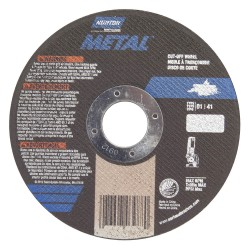 Saint Gobain - 07660701616 - 4 Type 1 Aluminum Oxide Abrasive Cut-Off Wheel, 5/8 Arbor, 0.040-Thick, 15, 280 Max. RPM