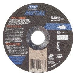 Saint Gobain - 07660701618 - 5 Type 1 Aluminum Oxide Abrasive Cut-Off Wheel, 7/8 Arbor, 0.040-Thick, 12, 225 Max. RPM