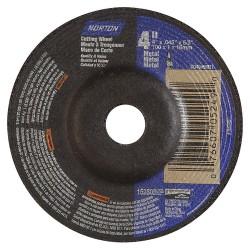 Saint Gobain - 07660705249 - 4 Type 27 Aluminum Oxide Depressed Center Wheels, 5/8 Arbor, 0.045-Thick, 15, 280 Max. RPM