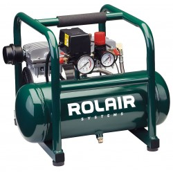 Rolair - JC10 - 1.00 HP, 115VAC, 2.3 gal. Portable Electric Oil-Free Air Compressor, 125 psi