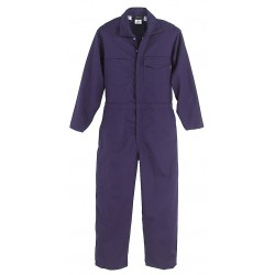 Workrite - 131UT70NB - UltraSoft, Flame-Resistant Coverall, Size: 38 Long, Color Family: Blues, Closure Type: Zipper