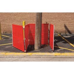 Cortina - 03-905G - Barrier System, Orange, 40 x 4 x 40 In