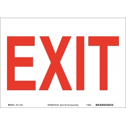 Brady - 115914 - Exit and Entrance, No Header, Paper, 7 x 10, With Mounting Holes, Not Retroreflective