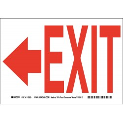 Brady - 115920 - Exit and Entrance, No Header, Paper, 7 x 10, With Mounting Holes, Not Retroreflective
