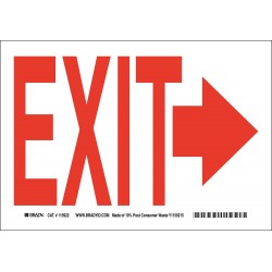 Brady - 115923 - Exit and Entrance, No Header, Paper, 10 x 14, With Mounting Holes, Not Retroreflective