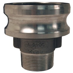 Dixon Valve - 3040-F-AL - Aluminum Adapter, Coupling Type F, Male Adapter x MNPT Connection Type