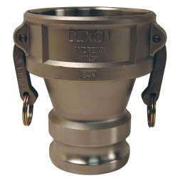 Dixon Valve - 3020-DA-SS - Stainless Steel Reducing Coupler/Adapter, Coupling Type DA, Female Coupler x Male Adapter Connection