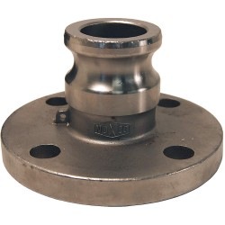 Dixon Valve - 400-AL-SS - Stainless Steel Flange Adapter, Coupling Type AL, Male Adapter x 150 lb. Flange Connection Type
