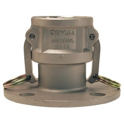 Dixon Valve - 400-DL-SS - Stainless Steel Flange Coupler, Coupling Type DL, Female Coupler x 150 lb. Flange Connection Type