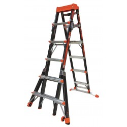 Little Giant - 15131-001 - Little Giant 15131-001 Select Step Fiberglass Extension Ladder 6'-10' Type IAA 375 lb. Capacity