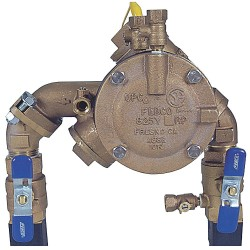 Febco - 1 LF825YA-QT RP - Reduced Pressure Zone Backflow Preventer, Lead Free Bronze, Watts 825 Series, NPT Connection