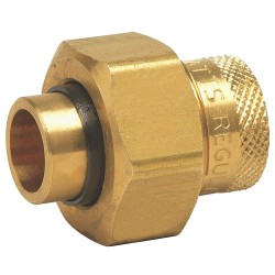 Watts Water Technologies - 1/2 LF3008 - 1/2 Lead Free Brass Dielectric Union with FIP x Solder Fitting Connection Type