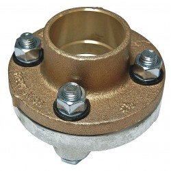 Watts Water Technologies - 2 1/2 LF3100 - 2-1/2 Copper, Iron Dielectric Flange with FIP x Solder Fitting Connection Type