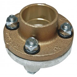 Watts Water Technologies - 3 LF3100 - 3 Copper, Iron Dielectric Flange with FIP x Solder Fitting Connection Type