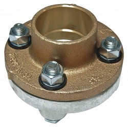 Watts Water Technologies - 4 LF3100 - 4 Copper, Iron Dielectric Flange with FIP x Solder Fitting Connection Type
