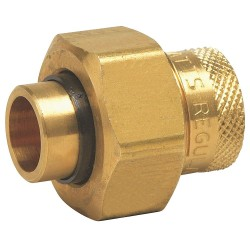 Watts Water Technologies - 1 LF3008 - 1 Lead Free Brass Dielectric Union with FIP x Solder Fitting Connection Type