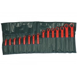 Wiha Quality Tools - 21094 - Insulated Box End Wrench Set, SAE, Number of Pieces: 15, Number of Points: 12, 1/4 to 1-1/4