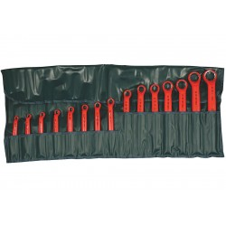 Wiha Quality Tools - 21093 - Insulated Box End Wrench Set, Metric, Number of Pieces: 15, Number of Points: 12, 8 to 32mm
