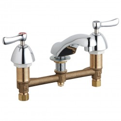 Chicago Faucet - 404-VABCP - Brass Bathroom Faucet, Lever Handle Type, No. of Handles: 2