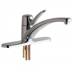 Chicago Faucet - 2300-8ABCP - Brass Kitchen Faucet, Manual Faucet Operation, Number of Handles: 1