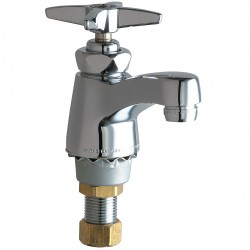 Chicago Faucet - 701-COLDABCP - Brass Bathroom Faucet, Lever Handle Type, No. of Handles: 1