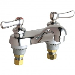 Chicago Faucet - 802-VXKABCP - Brass Bathroom Faucet, Lever Handle Type, No. of Handles: 2